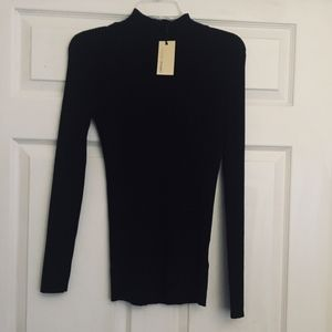 CAPSULE Ribbed High Neck Sweater (NWT)